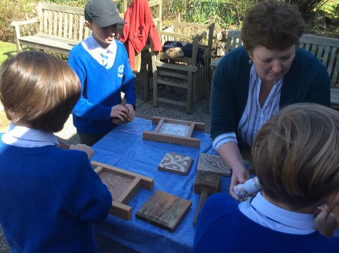 Making tiles from clay