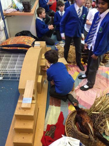Building a bridge with Roman technology.