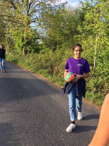 Vriya out walking