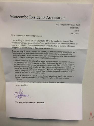 Letter from the residents association.