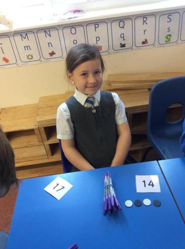 We have also been exploring place value above 10 in our maths.