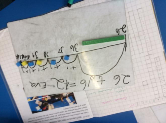 Dienes and a number line- upside down!