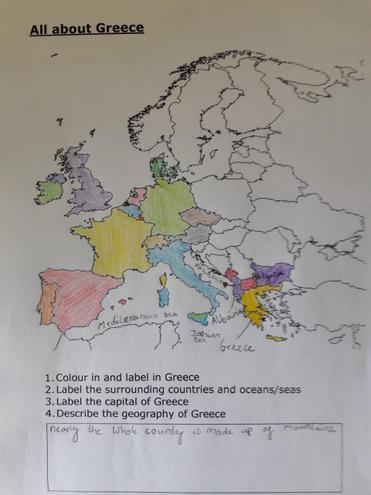 Lizzie's Map Work
