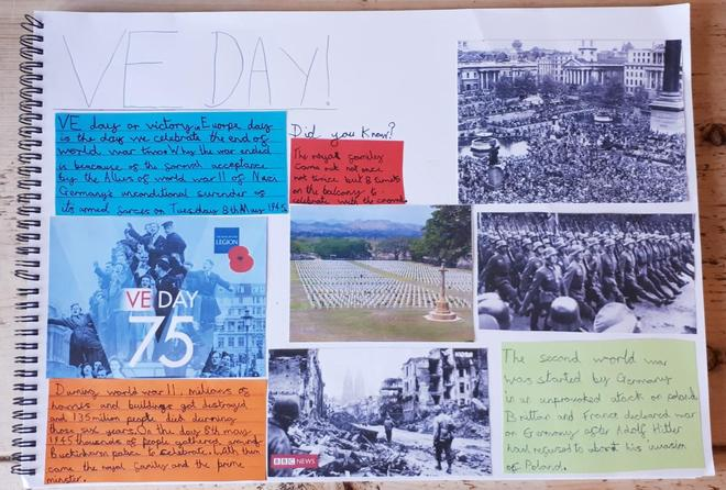Toby's VE day poster