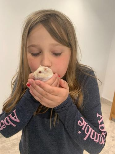 Immy and her hamster!