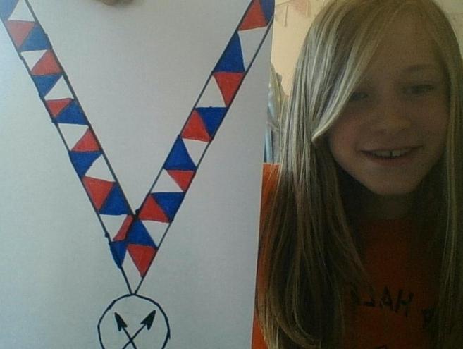 Claudia's VE Day medal