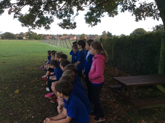 Listening carefully to the rules.