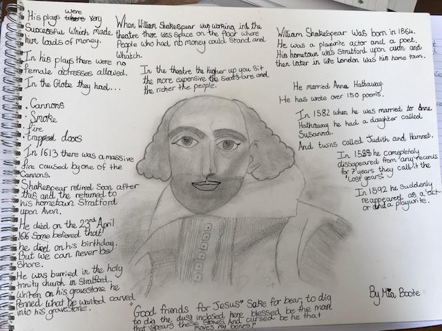 Mia's Shakespeare poster