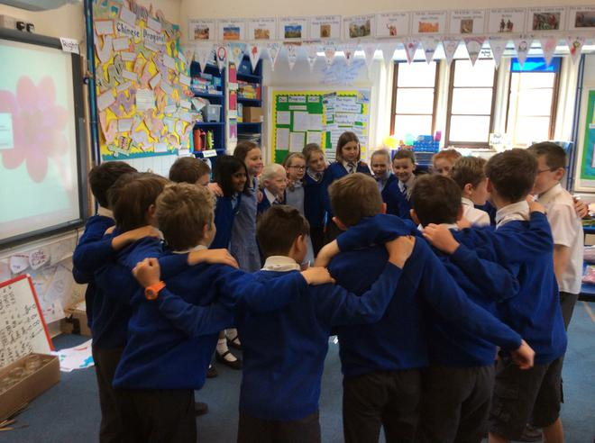 Class 'huddle' to talk strategy!