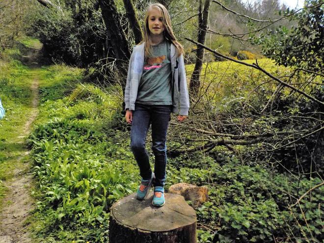 Claudia Walking in Kingsettle Woods