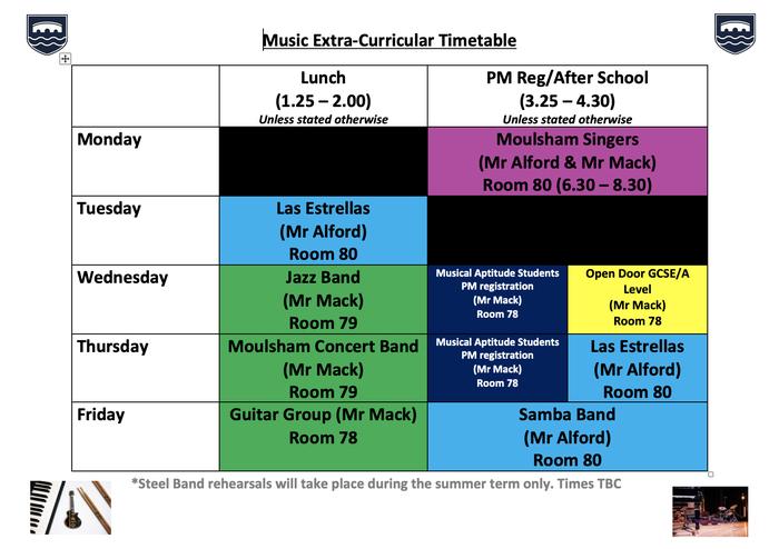 Music Clubs September 2021