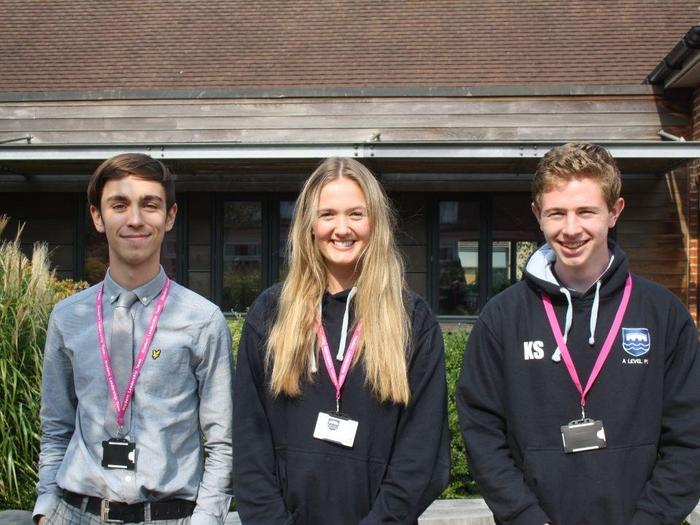 Jake, Rosie and Kieran, Wellbeing and Sports Captains
