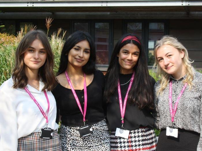 Nadine, Riya, Ellie and Fran, Hospitality Ambassadors