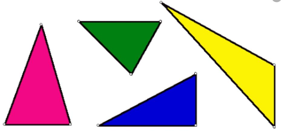 Triangle - 3 corners and 3 straight sides