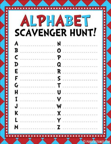 Can you find an object at home that starts with each letter of the alphabet?