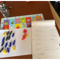 Using manipulatives for calculations.