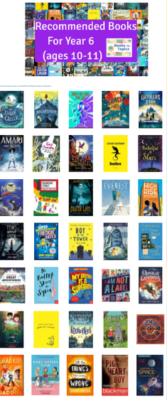 Website for book recommendations: https://www.booksfortopics.com/year-6