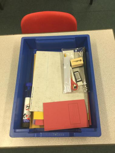 An example of your drawers. Everyone will have their own fully-stocked pencil case.