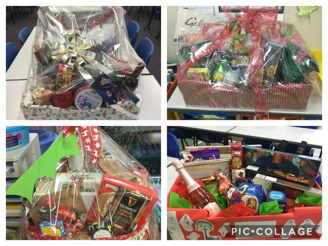 Christmas Hampers ready to raffle