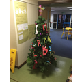 Class Onyx Year 3 decorated with the children's initials.
