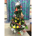 Class Jade Year 1&2 used left over paper strips to create their decorations.
