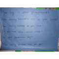 Letters to Greenfields! Practising using ?