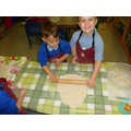 Abbey Class Making Pizzas