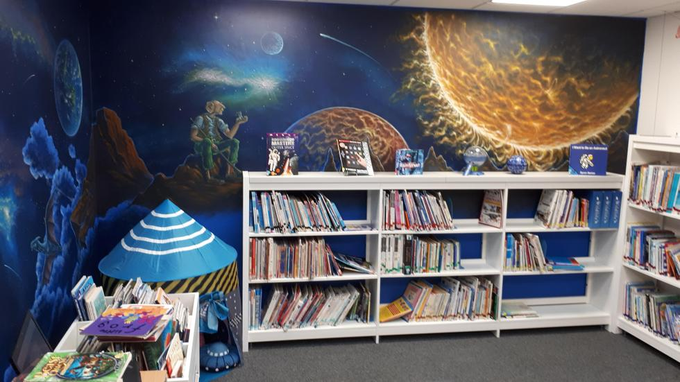 Out of this world library space.