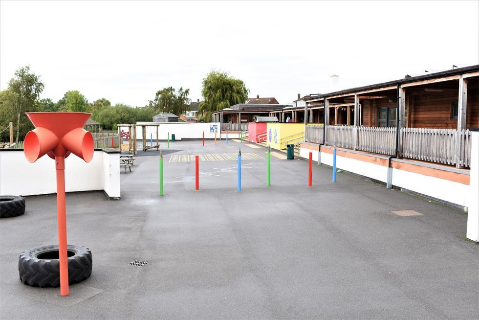 Playground showing decking