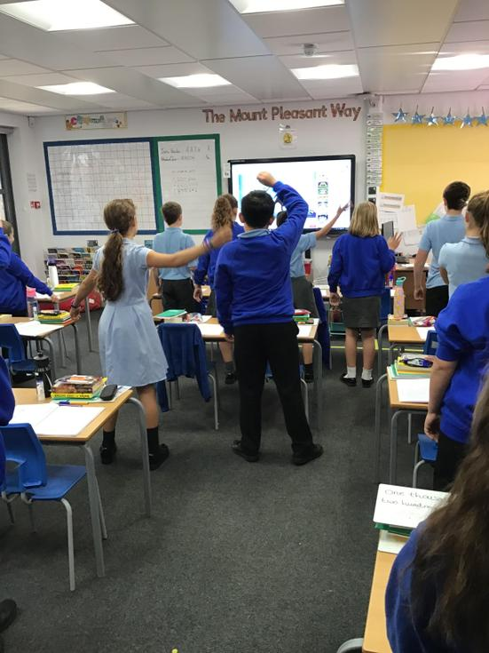 Attingham enjoy a GoNoodle to separate the lesson and give themselves a well earned break!