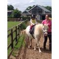 Saee rode a pony!