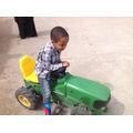 Abdirahman drove a tractor!
