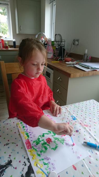 Poppy- Aboriginal dot painting
