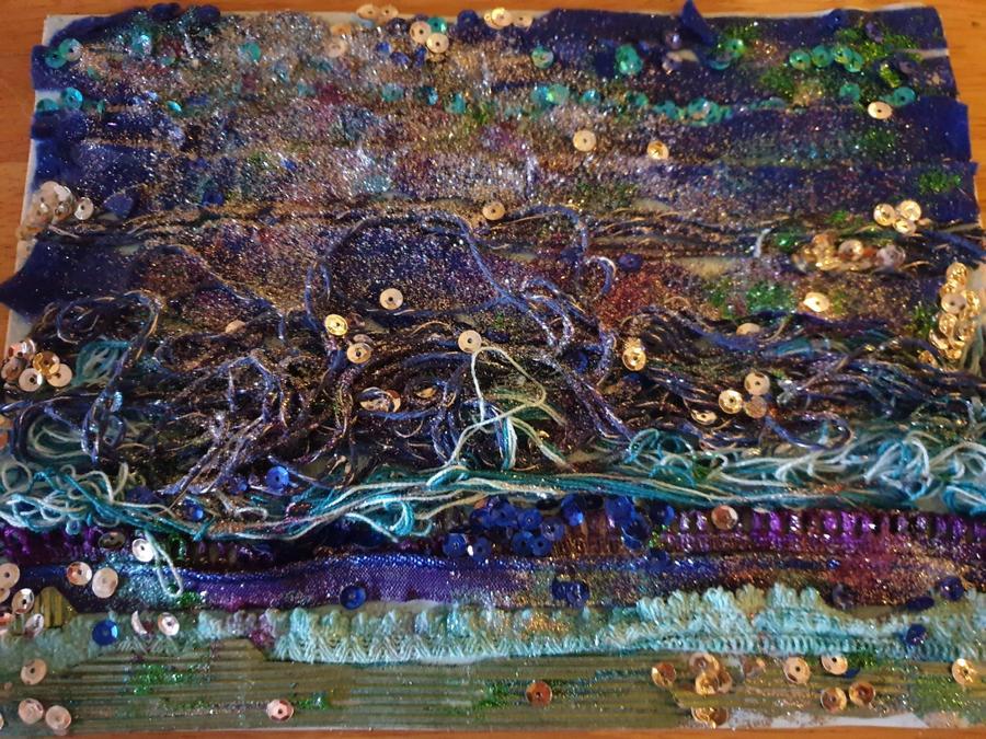 Alice''s textile river art.