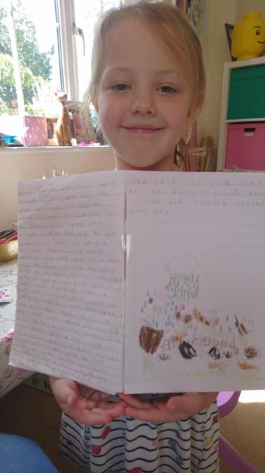 Poppy has retold 'The very busy spider' story