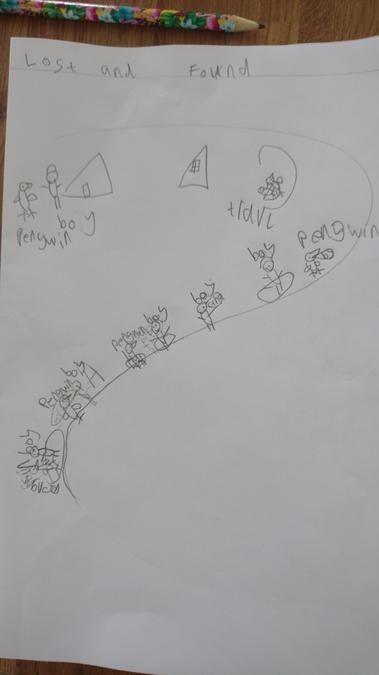 Poppy- story map of 'Lost and Found'