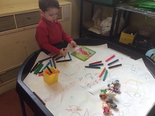 Story of the week- story sacks to retell story