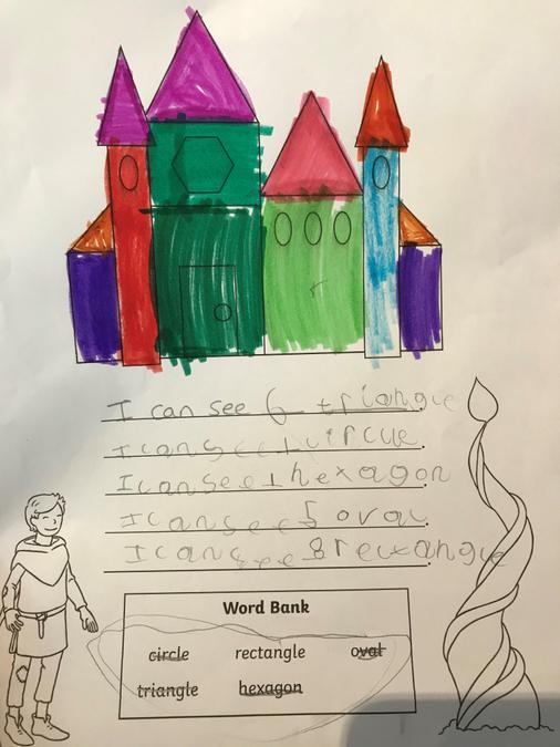 Elsie's 2D shape castle