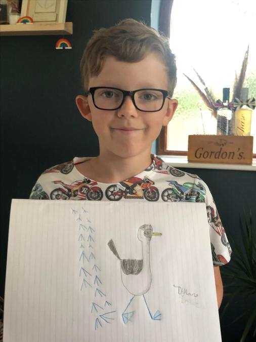 Dylan's week of drawing.