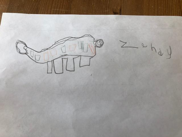 Zendy Created her own dinosaur