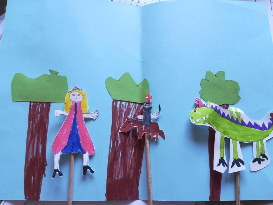 St George's Day puppet show by Holly B