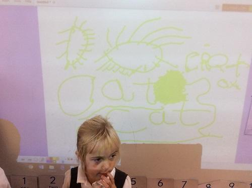 Using IWB to draw pictures and label