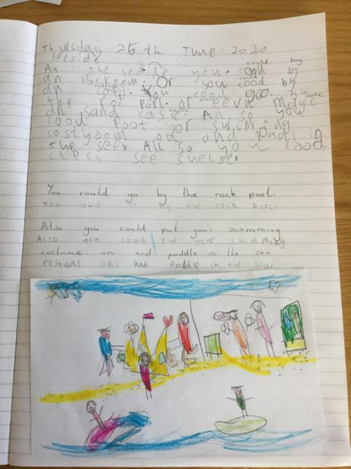 Poppy- seaside writing