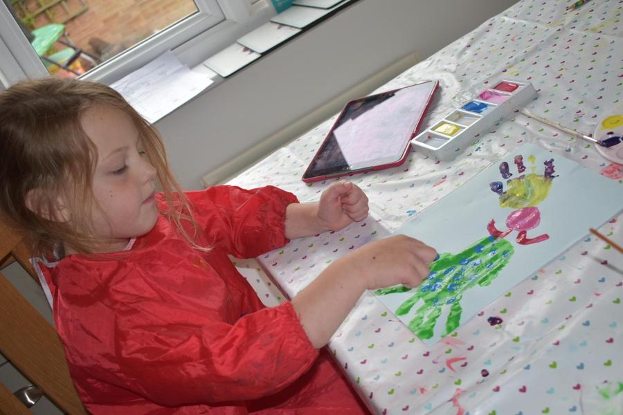 Poppy- mermaid 'hand painting'
