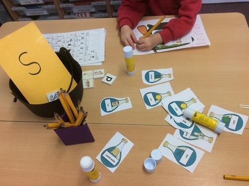 Making spells – children must use correct letters