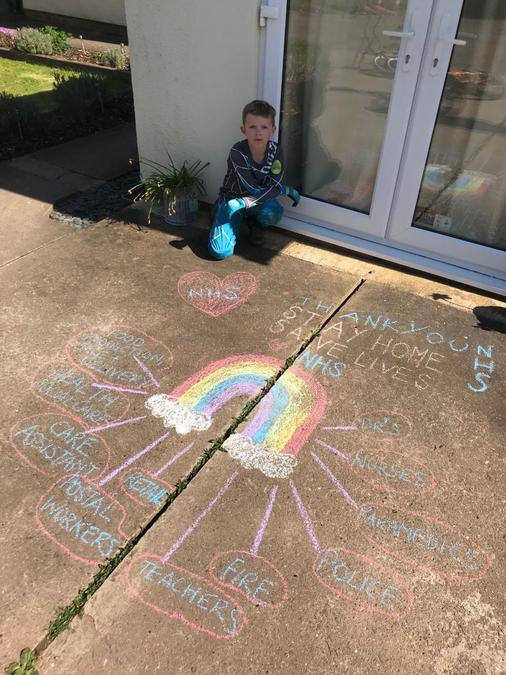 Dylan's NHS chalk picture.