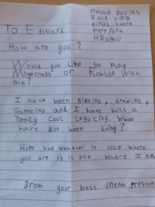 Preston's letter.