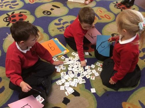 Sorting pictures with initial sounds
