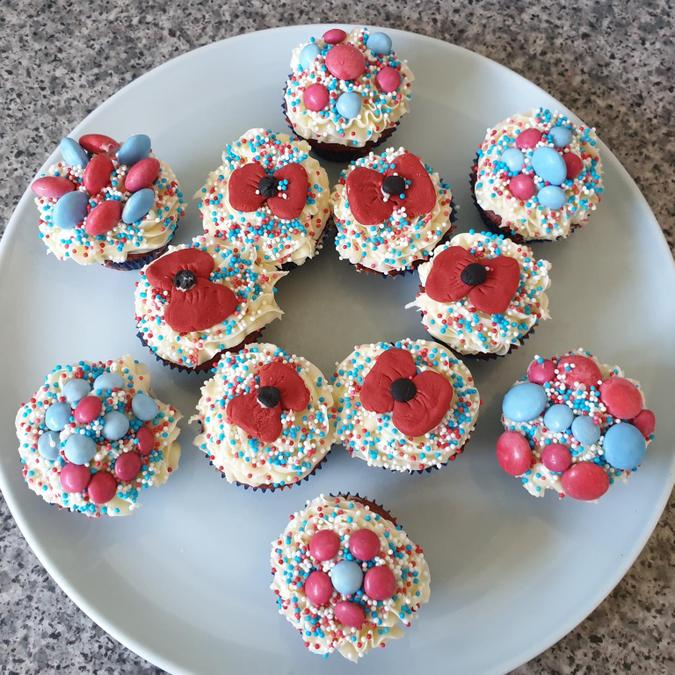 Aclice's VE Day cupcakes.
