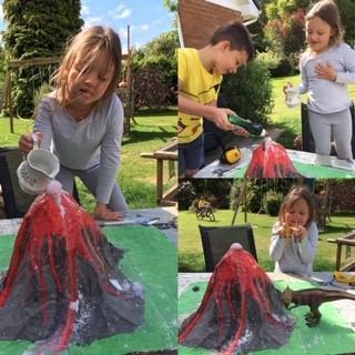 Sophie and brothers' volcano